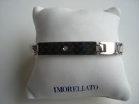 Edelstalen armband met diamant lengte 21 cm