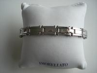 Edelstalen armband Tierra met 3 gouden accenten