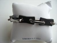 Edelstalen armband met sluiting voorzien van gouden detail