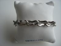 Edelstalen armband met sluiting